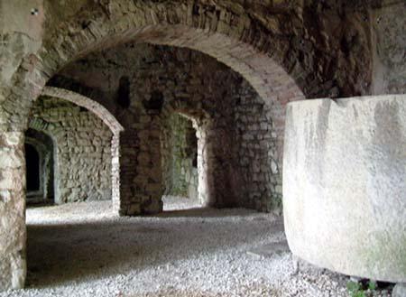 Cisterne nel castello di Brescia