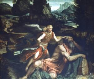Moretto - Elia e L'angelo - S. Giovanni - Brescia.