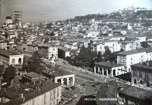 Cartolina Brescia Vintage 1958.