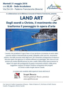 Conferenza Land Art - Christo - Paderno Franciacorta.
