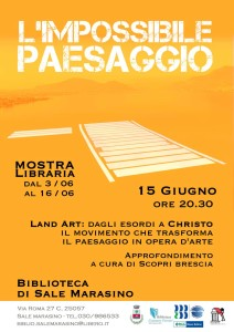 Conferenza Land Art - Sale Marasino.