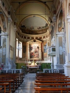 Interno della Chiesa di Sant'Angela Merici.