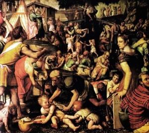 Moretto - Raccolta della Manna - Cappella SS. Sacramento