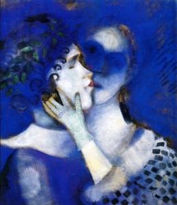Chagall, Amanti in Blu, 1914.