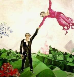 Chagall, La Passeggiata. Mostra a Santa Giulia, Brescia.