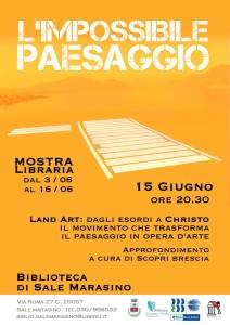 Conferenza Land Art - Sale Marasino.