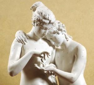 A. Canova - Amore e Psiche Stanti (Calco) - Mostra Ottocento Brescia.