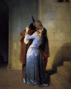 Il Bacio. Francesco Hayez. Pinacoteca di Brera.